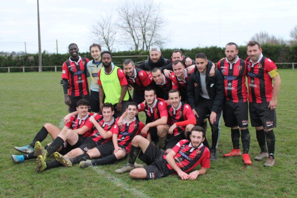 Notre équipe premiere en 8ème de finale de la coupe de l'Anjou